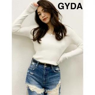 GYDA - GYDA リブVネックニット トップス
