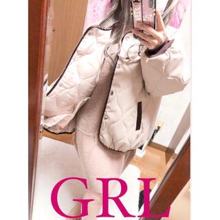 グレイル(GRL)の3050.GRL 新品 キルティングダウン アウター ベージュ(ダウンジャケット)