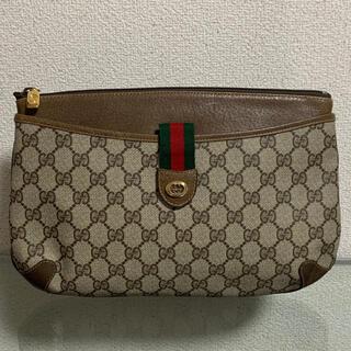 Gucci - 美品 オールドグッチ クラッチバッグ ポーチ シェリー ウェブ ヴィンテージ