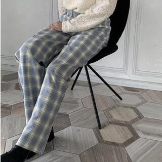 Madras light blue check pants