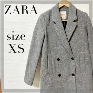 ZARA - ZARA  チェスターコート グレー ロングコート レディース ベーシック