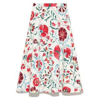 Lily Brown - オリエンタル花柄スカート