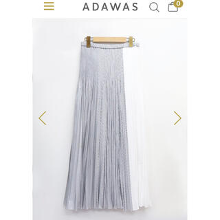 アダワス(ADAWAS)のアダワス ADAWAS プリーツスカート 切替スカート ロングスカート(ロングスカート)