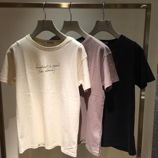 スナイデル(snidel)のsnidel ドローイングロゴTシャツ(Tシャツ(半袖/袖なし))