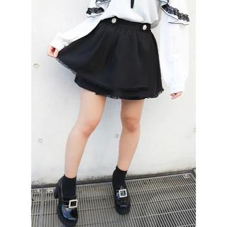 ロジータ(ROJITA)のロジータ ROJITA ビジュ釦ティアードスカパン 黒 ブラック スカート(ミニスカート)