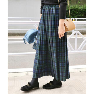 IENA - IENA チェックプリーツスカート