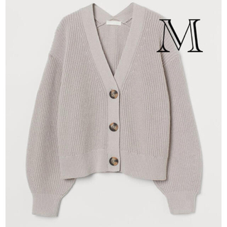 H&M - 2021春新作 H&M エイチアンドエム リブニットカーディガン リブニット M