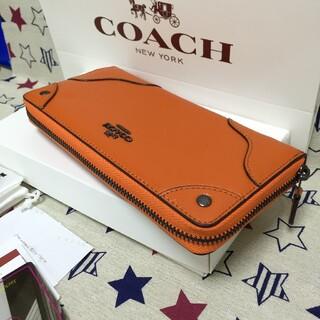 COACH - 未使用品COACH 長財布 コーチメンズレディースジッパー財布52645