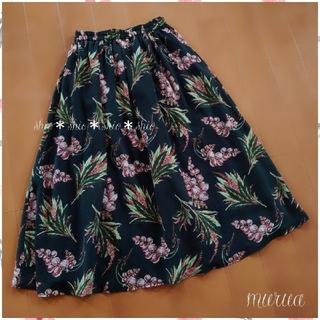 ムルーア(MURUA)の《MURUA》花柄 グレープフラワースカート F(ひざ丈スカート)