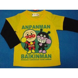 アンパンマン - 新品 90cm アンパンマン 2ショット長袖Tシャツ イエロー