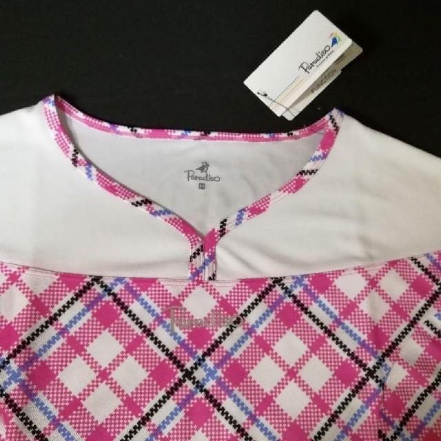 Paradiso(パラディーゾ)の15)新品M★Paradisoゲームシャツ パラディーゾ テニスウェアレディース スポーツ/アウトドアのテニス(ウェア)の商品写真