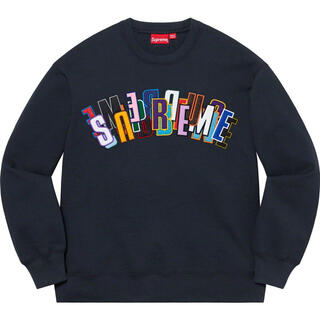 Supreme - Supreme - Stacked Crewneck Lサイズ ネイビー