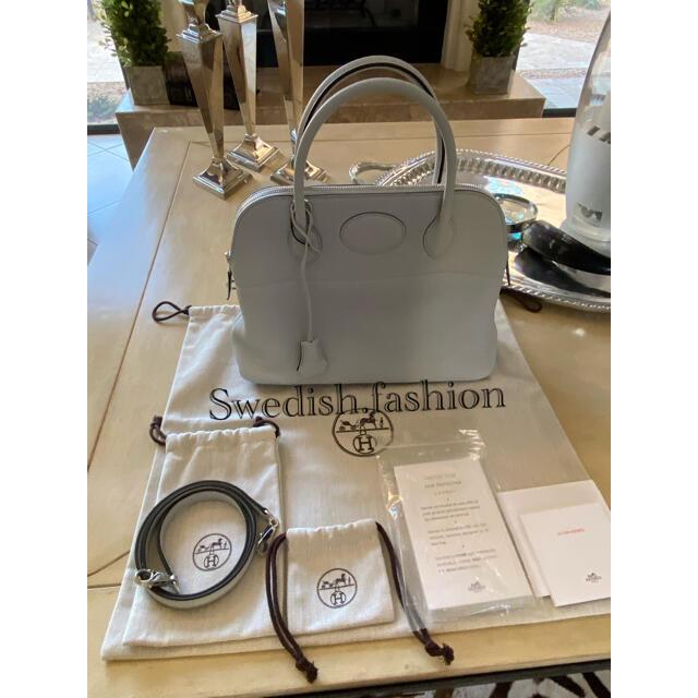 Hermes(エルメス)のほぼ新品・ブルーグラシエ・ボリード31・エルメス レディースのバッグ(ショルダーバッグ)の商品写真