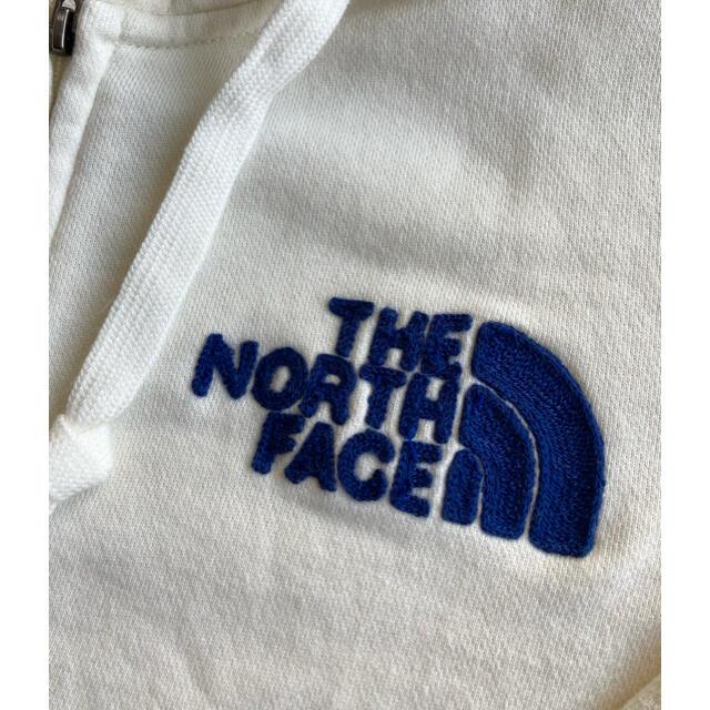 THE NORTH FACE(ザノースフェイス)のパーカー ロゴ ホワイト 白 キャンプ 登山 ブルー M メンズ レディース メンズのトップス(パーカー)の商品写真