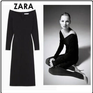 ZARA - 新品未使用タグ付き ZARA ザラ スウィートハートネックワンピース ウール