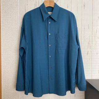 Marni - 19SS marni トロピカルウールシャツ ペトロール 44サイズ
