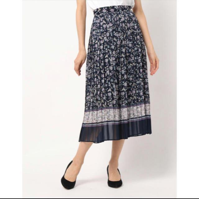 WILLSELECTION(ウィルセレクション)のWILLSELECTION フラワスカーフプリントプリーツスカート レディースのスカート(ロングスカート)の商品写真