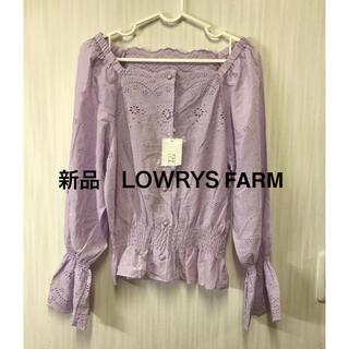 LOWRYS FARM - 新品未使用 LOWRYS FARM  フリルブラウス
