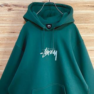 STUSSY - 【新品未使用】【ビッグシルエット】stussy スウェットパーカー XL 緑