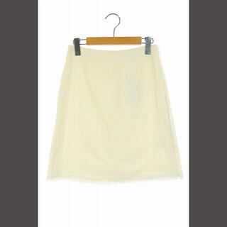 エストネーション(ESTNATION)のエストネーション ESTNATION ツイードスカート 膝丈 36 白 ホワイト(ひざ丈スカート)
