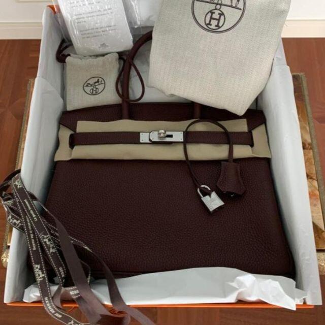 Hermes(エルメス)のHermes エルメス バーキン30 シルバー金具 ショコラ レディースのバッグ(ハンドバッグ)の商品写真
