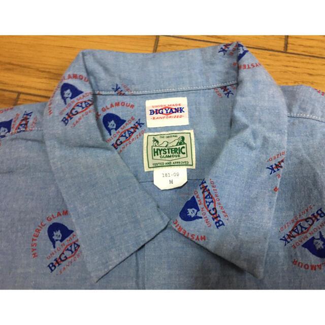 HYSTERIC GLAMOUR(ヒステリックグラマー)の中古ヒステリックグラマー× BIG YANK水色M総柄 半袖シャツ メンズのトップス(シャツ)の商品写真