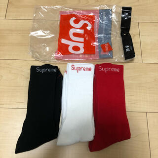 Supreme - supreme Hanes Socks 3色セット 赤.黒.白