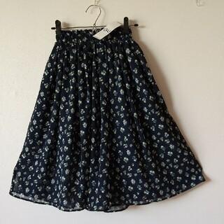 GU - タグ付 GU  ガールズ シフォン フラワープリント スカート 140㎝