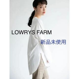 LOWRYS FARM - LOWRYS FARM USAラウンドヘムLS カットソー