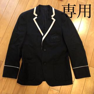 ラコステ(LACOSTE)のKey様専用春夏!ラコステ メンズジャケット 麻混 黒(テーラードジャケット)