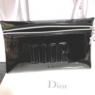 Dior - ディオール ノベルティ ポーチ エナメル ブラック スターチャーム