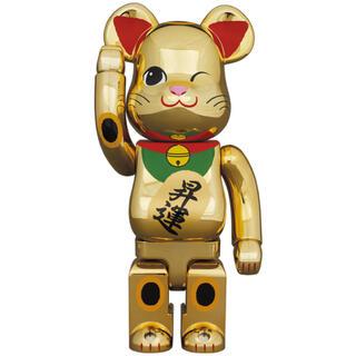 メディコムトイ(MEDICOM TOY)のBE@RBRICK 招き猫 昇運 弐 金メッキ 400% 100% (その他)