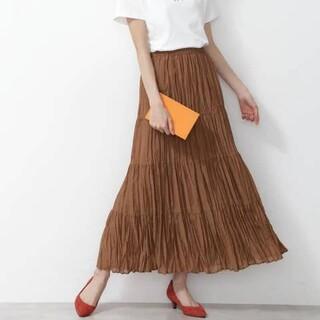 NATURAL BEAUTY BASIC - ワッシャープリーツスカート