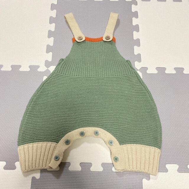 BREEZE(ブリーズ)の【あーぱん様専用】ニットサロペット 70㎝ キッズ/ベビー/マタニティのベビー服(~85cm)(ロンパース)の商品写真