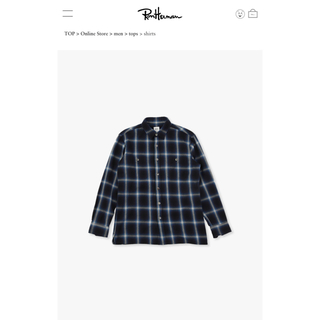 Ron Herman - ロンハーマン RHC チェックシャツ 2021 春夏 ネイビー 美品