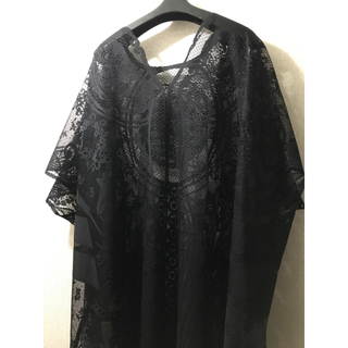 Curtain Lace Dress  black mamekurogouchi