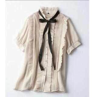 DOUBLE STANDARD CLOTHING - 新品 ダブルスタンダードクロージング ボウタイ付きブラウス フリル リボン ザラ