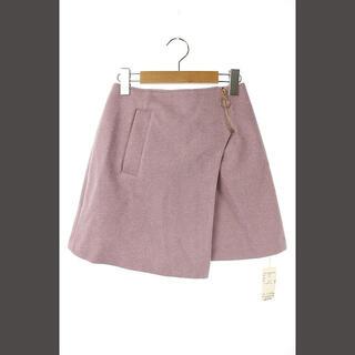 レディアゼル(REDYAZEL)のレディアゼル REDYAZEL ウール混スカート ラップ ミニ 台形 インナー付(ミニスカート)