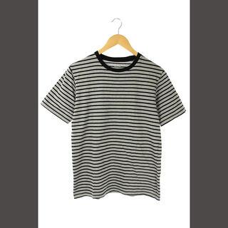 エストネーション(ESTNATION)のエストネーション ESTNATION ボーダーTシャツ 半袖 M グレー 黒 /(Tシャツ/カットソー(半袖/袖なし))