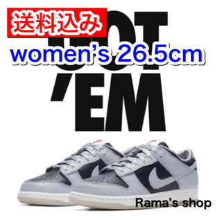 NIKE - NIKE DUNK LOW College Navy W26.5cm