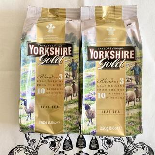 イギリスYORKSHIRETEAヨークシャーティーゴールドリーフ 2袋セット(茶)