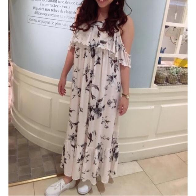 gelato pique(ジェラートピケ)のリリーカップインキャミドレス*ホワイト レディースのルームウェア/パジャマ(ルームウェア)の商品写真