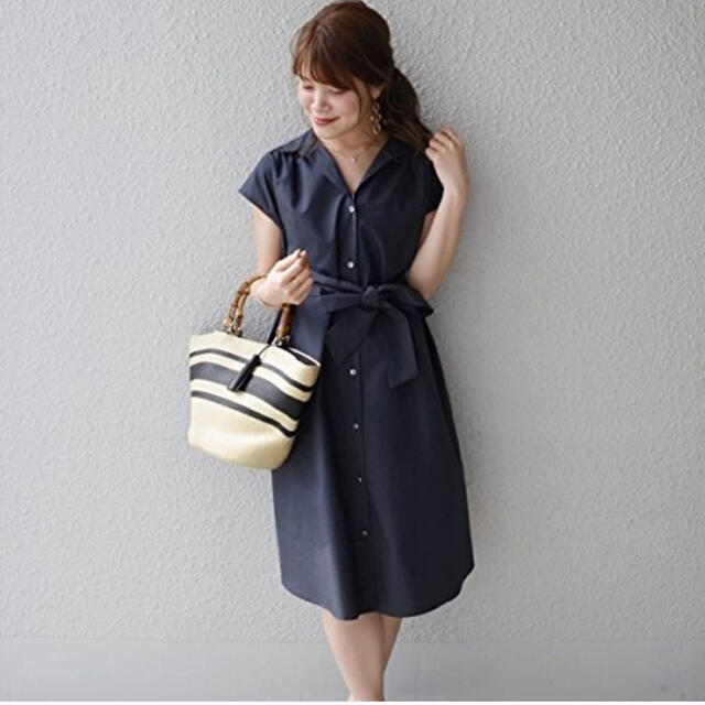 SHIPS for women(シップスフォーウィメン)のタイプライターシャツワンピース レディースのワンピース(ひざ丈ワンピース)の商品写真