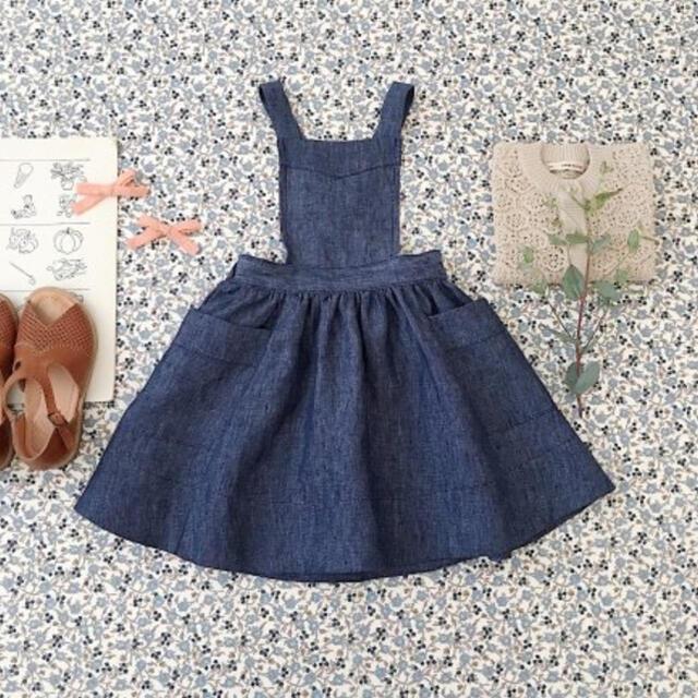 Caramel baby&child (キャラメルベビー&チャイルド)のsoor ploom Harriet pinafore 4/5Y キッズ/ベビー/マタニティのキッズ服女の子用(90cm~)(ワンピース)の商品写真