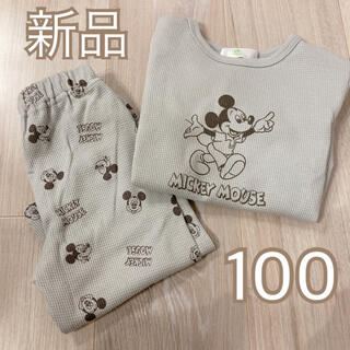 Disney - タグ付き新品❤️ミッキー ワッフル パジャマ 100
