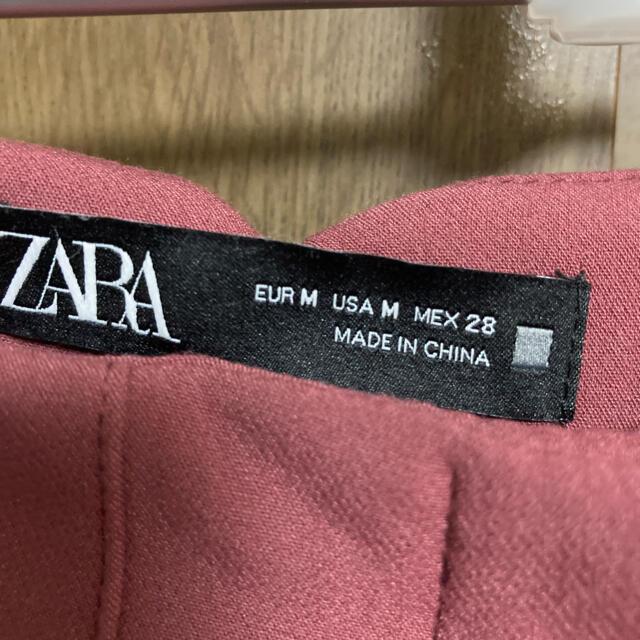 ZARA(ザラ)の【要コメント】ザラ ハイウエストパンツ  マルサラ レディースのパンツ(カジュアルパンツ)の商品写真