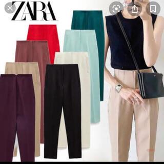 ZARA - 【要コメント】ザラ ハイウエストパンツ  マルサラ