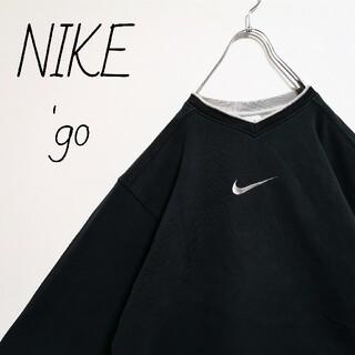 NIKE - 【激レア】'90s NIKE 銀タグ 刺繍ロゴ スウェット トレーナー