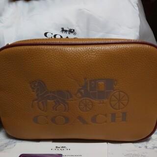 COACH - コーチ COACH ショルダーバックレディース  ホース柄 かわいい ブラウン