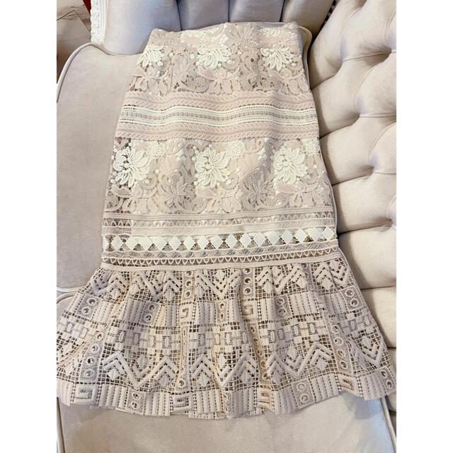 snidel(スナイデル)のSNIDEL♡レースマーメイドスカート レディースのスカート(ひざ丈スカート)の商品写真